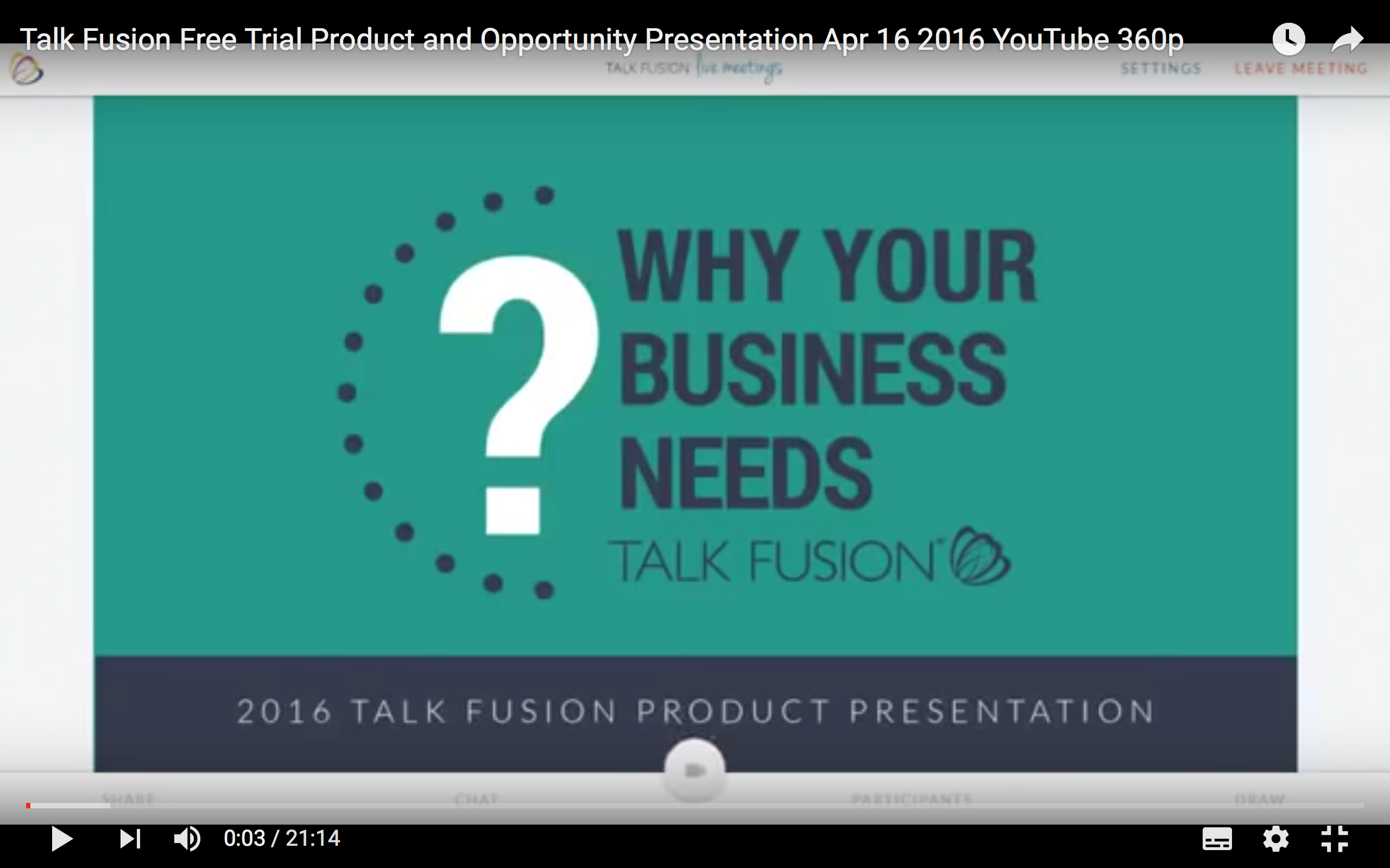 TalkFusion Opportunity Presentation